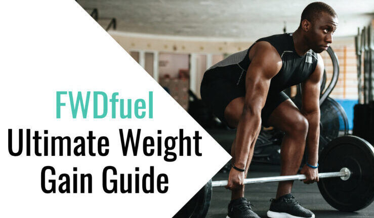 Athlete lifting weights for weight gain