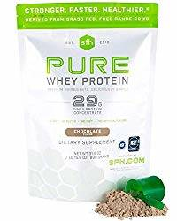 Bag of SFH PURE whey protein powder