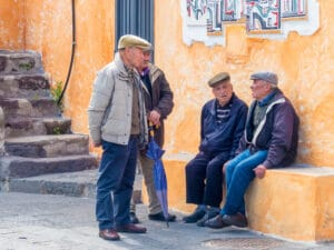 "Men from Sardinia, Italy which is a ""Blue Zone"" area where some of the longest living people live."