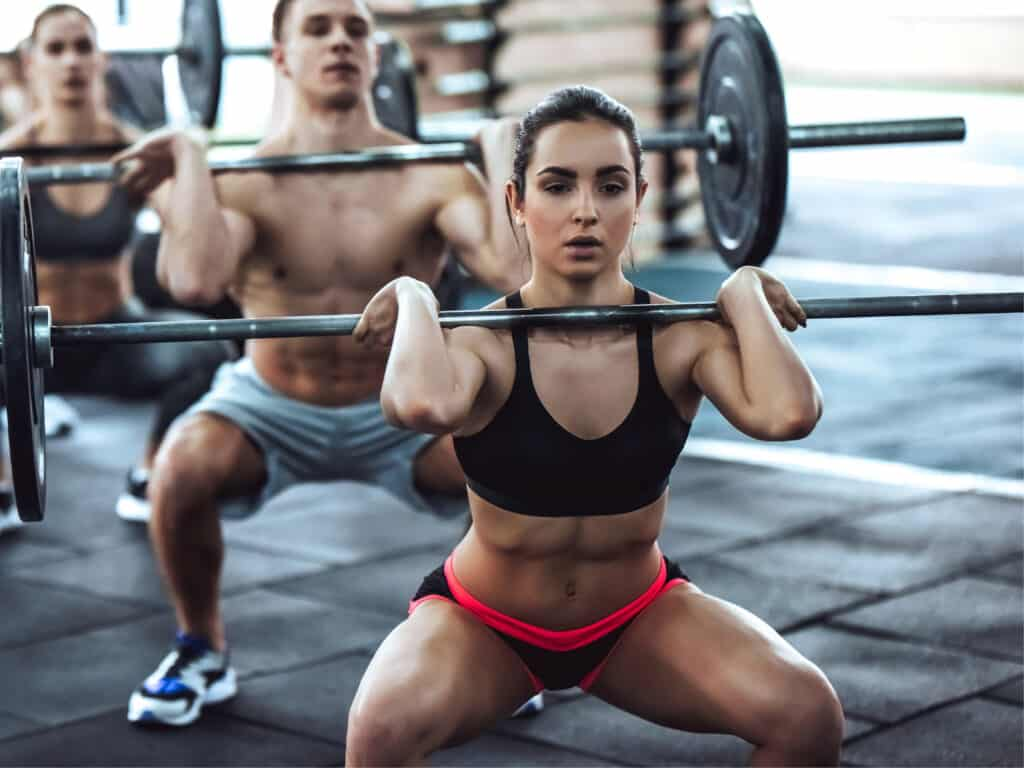 Female crossfit athlete