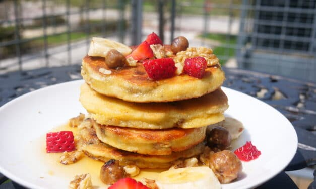 Cinnamon Churro Protein-Packed Pancakes