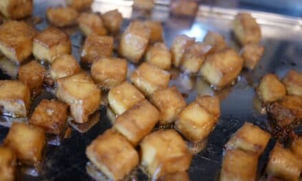 Sweet & Spicy Baked Tofu