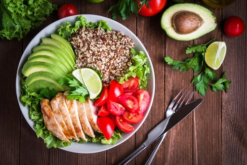 Plate of foods friendly on an elimination diet